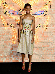 Letitia Wright attending The Black Panther European Premiere at The Eventim Apollo Hammersmith London.