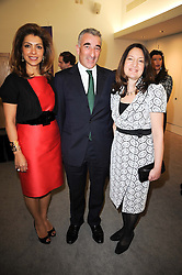 Left to right, RICK & CAROL SOPHER and RICKIE BURMAN Director of the Jewish Museum at the opening reception of the new Jewish Museum, Raymond Burton House, 129-131 Albert Street, London NW1 on 16th March 2010.