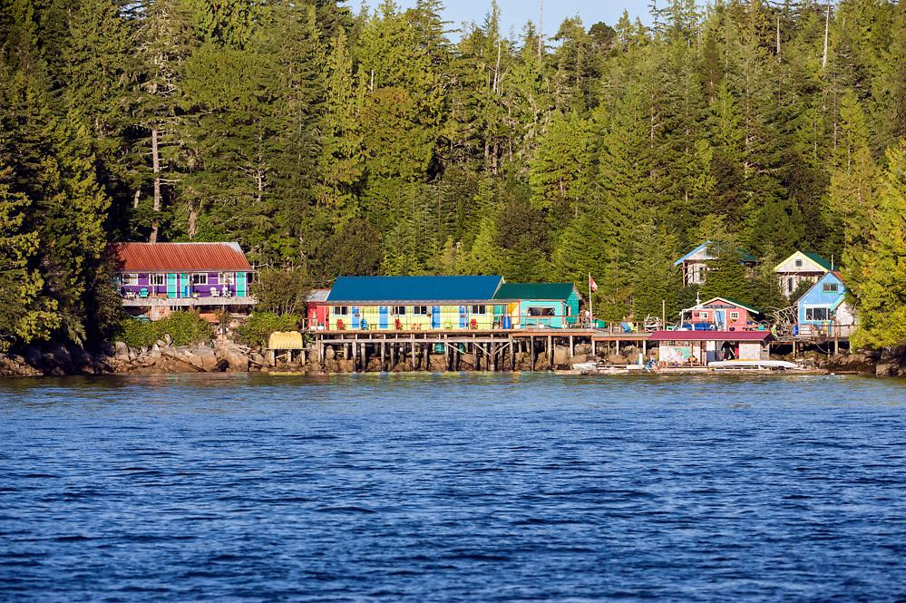 God's Pocket Dive Resort in God's Pocket Provincial Park offshore Vancouver Island, British Columbia, Canada.
