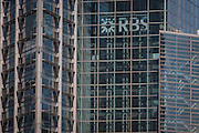 The London headquarters of the Royal Bank of Scotland (RBS) on Bishopsgate in the City of London, UK.