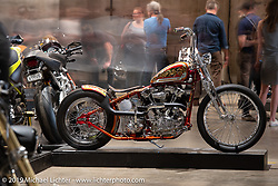 Billy Guthery and his son Harley turned out this custom 1940 Harley-Davidson Knucklehead from their father-son Guthery Customs shop in Edmund, OK. Here on display at the Handbuilt Show. Austin, TX. USA. Sunday April 22, 2018. Photography ©2018 Michael Lichter.