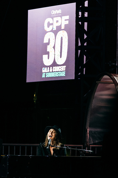 NEW YORK, NY/US - SEPTEMBER 26, 2019: Sara Bareilles performs onstage at SummerStage in Central Park as part of the City Parks Foundation 30 Gala & Concert in Manhattan. PHOTO CREDIT: Eric M. Townsend