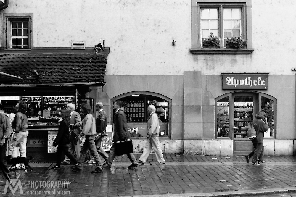 City life<br /> <br /> (Analog black and white image. Scan from manually developed negative.)