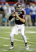 ATLANTA, GA - DECEMBER 31:  Quarterback Johnny Manziel #2 of the Texas A&M Aggies drops back to pass during the Chick-fil-A Bowl game against the Duke Blue Devils at the Georgia Dome on December 31, 2013 in Atlanta, Georgia.  (Photo by Mike Zarrilli/Getty Images)