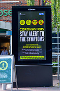 Electronic information government notice Coronavirus Stay Alert To The Symptoms, UK 23 May 2020