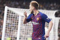 March 2, 2019 - Madrid, Madrid, Spain - Ivan Rakitic (midfielder; Barcelona) in action during La Liga match between Real Madrid and FC Barcelona at Santiago Bernabeu Stadium on March 3, 2019 in Madrid, Spain (Credit Image: © Jack Abuin/ZUMA Wire)