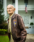 Billy Lewis was a WWII B-17 waist gunner, flying a total of 42 missions over occupied Europe. Shot down over Germany, friendly locals helped him evade capture.  <br /> <br /> Created by aviation photographer John Slemp of Aerographs Aviation Photography. Clients include Goodyear Aviation Tires, Phillips 66 Aviation Fuels, Smithsonian Air & Space magazine, and The Lindbergh Foundation.  Specialising in high end commercial aviation photography and the supply of aviation stock photography for advertising, corporate, and editorial use.
