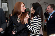 ANGELA RATCLIFFE; YASMINE MILLS, Elemis 20th Anniversary in partnership with Mothers4Children charity. Party to celebrate 20 years in business and to raise money for Mothers4children and new product launches. One Marylebone. London. 2 February 2010.
