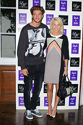 Tom Kilbey and Lydia Rose Bright at Style for Stroke - launch party held at No. 5 Cavendish Square, London, England, October 2, 2012. Photo by Chris Joseph / i-Images.