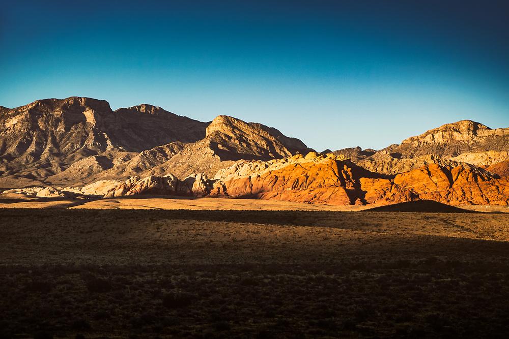 Sunset Landscape at Red Rock Canyon National Conservation Area near Las Vegas, Nevada. ©justinalexanderbartels.com