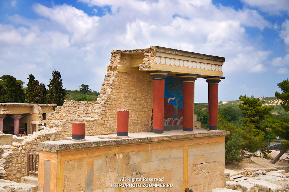 Arthur Evans' reconstruction of the Minoan palace at Knossos