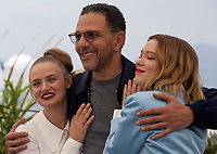 Sara Forestier, Roschdy Zem and Léa Seydoux at Oh Mercy! (Roubaix, Une Lumiere) film photo call at the 72nd Cannes Film Festival, Thursday 23rd May 2019, Cannes, France. Photo credit: Doreen Kennedy