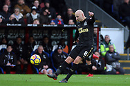 Jonjo Shelvey of Newcastle United in action. Premier League match, Crystal Palace v Newcastle Uutd at Selhurst Park in London on Sunday 4th February 2018. pic by Steffan Bowen, Andrew Orchard sports photography.