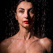 Shower portrait