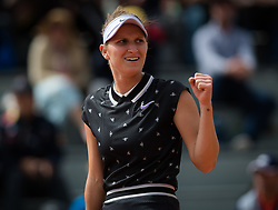May 29, 2019 - Paris, FRANCE - Marketa Vondrousova of the Czech Republic in action during her second-round match at the 2019 Roland Garros Grand Slam tennis tournament (Credit Image: © AFP7 via ZUMA Wire)