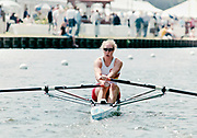 Henley on Thames, England, 1999 Henley Royal Regatta, River Thames, Henley Reach,  [© Peter Spurrier/Intersport Images],The Princess Royal Challenge Cup. Debbie FLOOD, Tideway Scullers School, TSS.,