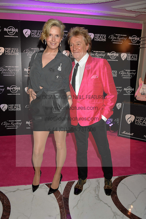 SIR ROD STEWART and LADY STEWART at the annual PINKTOBER Gala presented by Hard Rock Heals at The Dorchester, Park Lane, London on 14th October 2016.  The annual event raises money for The Caron Keating Foundation.