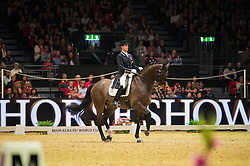 Hester Carl, (GBR), Nip Tuck<br /> Grand Prix Freestyle <br /> Reem Acra FEI World Cup Dressage <br /> London International Horse Show<br /> © Hippo Foto - Jon Stroud