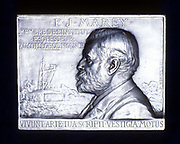 Etienne Jules Marey (1830-1903) French physiologist. Pioneer of cinematography. From obverse of commemorative plaquette