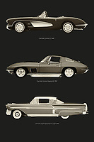 Chevrolet is one of the best known car brands in the Americas. The Chevrolet Corvette C1, the Chevrolet Corvette Stingray and the Chevrolet Impala have won many a heart. –<br /> -<br /> BUY THIS PRINT AT<br /> <br /> FINE ART AMERICA / PIXELS<br /> ENGLISH<br /> https://janke.pixels.com/featured/chevrolet-corvette-c1-chevrolet-corvette-stingray-and-chevrolet-impala-jan-keteleer.html<br /> <br /> <br /> WADM / OH MY PRINTS<br /> DUTCH / FRENCH / GERMAN<br /> https://www.werkaandemuur.nl/nl/shopwerk/Chevrolet-Corvette-C1-Chevrolet-Corvette-Stingray-en-Chevrolet-Impala/798228/132?mediumId=1&size=50x75<br /> –<br /> -