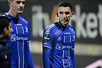 Fotball , 27. oktober 2019 , Eliteserien , Mjøndalen - Sarpsborg 0-0<br /> Mustafa Abdellaoue , S08<br /> Kyle Lafferty , S08