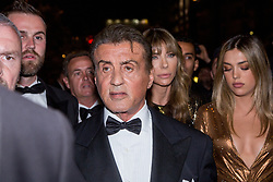 Sylvester Stallone, his wife Jennifer Flavin and his daughter Sophia Rose Stallone leaving Rambo Party to red carpet on croisette during 72nd Cannes film festival on May 24, 2019 in Cannes, France. Photo by Nasser Berzane/ABACAPRESS.COM