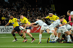 January 8, 2018 - Nanterre, Hauts de Seine, France - Racing Metro 92 Fly Half XAVIER CHAUVEAU in action during the French rugby championship Top 14 match between Racing Metro 92 and Clermont at U Arena Stadium in Nanterre - France.Racing won 58-6 (Credit Image: © Pierre Stevenin via ZUMA Wire)