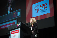20th International AIDS Conference (AIDS 2014). International AIDS Society, at the Exhibition Centre, Melbourne, Australia. <br /> FRPL02_Closing Session.<br /> Photo shows: Sharon Lewin<br /> Photo: International AIDS Society/Steve Forrest