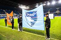 Fanion Laval / Fanion Le Havre  - 12.12.2014 - Le Havre / Laval - 17eme journee de Ligue 2 <br /> Photo : Fred Porcu / Icon Sport