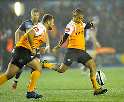 Cheetahs' Clayton Blommetjies<br /> <br /> Photographer Mike Jones/Replay Images<br /> <br /> Guinness PRO14 Round 14 - Cardiff Blues v Cheetahs - Saturday 10th February 2018 - Cardiff Arms Park - Cardiff<br /> <br /> World Copyright © Replay Images . All rights reserved. info@replayimages.co.uk - http://replayimages.co.uk