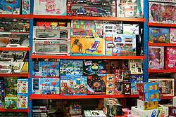 © Licensed to London News Pictures. 13/10/2021. London, UK. Toys on display at a toy shop in north London. Retailers are warning of toy shortages in the lead up to Christmas, amid fears of ongoing supply chain problems will result in higher prices and empty shelves. Photo credit: Dinendra Haria/LNP