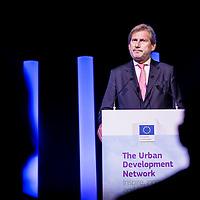 Brussels, Belgium 9 October 2014<br /> Urban Development Network conference.<br /> Johannes Hahn, European Commissioner for Regional Policy.<br /> Photo: Ezequiel Scagnetti