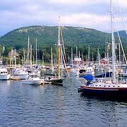 Camden Harbor in the afternoon. Camden, Maine