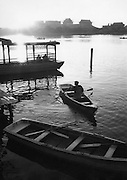 C011-25_Tom Hutchins_Boating in the late afternoon, Peihei Park, Peking, China 1956 A3.tif