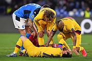Foto Cafaro/LaPresse<br /> 25 Febbraio 2020 Napoli, Italia<br /> sport<br /> calcio<br /> SSC Napoli vs FC Barcelona - Uefa Champions League stagione 2019/20, Ottavi di finale, andata - stadio San Paolo<br /> Nella foto: Lionel Messi (FC Barcelona) infortunato.<br /> <br /> Photo Cafaro/LaPresse<br /> February 25, 2020 Naples, Italy<br /> sport<br /> soccer<br /> SSC Napoli vs FC Barcelona - Uefa Champions League 2019/20 season, Round of 16, First leg - San Paolo stadium<br /> In the pic: Lionel Messi (FC Barcelona)