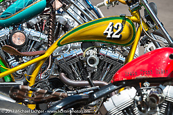 The Cycle Source bike show at the Broken Spoke at the Iron Horse Saloon during the annual Sturgis Black Hills Motorcycle Rally.  SD, USA. Thursday August 10, 2017.  Photography ©2017 Michael Lichter.