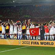 Turkey celebrate their third place in the Fifa World Cup