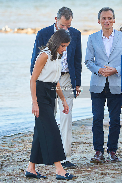 King Felipe VI of Spain, Queen Letizia of Spain visit Los Alcazares (Murcia) after the September floods on October 4, 2019, Spain
