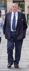© Licensed to London News Pictures.  13/06/2018; Bristol, UK. Defendant CHARLES HOWESON arrives at Bristol Crown Court, charged with historic sex offences against a boy. Howeson is facing one count of sexual assault of a boy aged between 14 and 15 during a summer in the mid 1980s when he was a senior officer in the Royal Navy. He is also facing an alternative count of indecent assault of the boy. Howeson was a director of staff at the Queen's bank Coutts, and was convicted last year of indecently assaulting eight young men. Photo credit: Simon Chapman/LNP