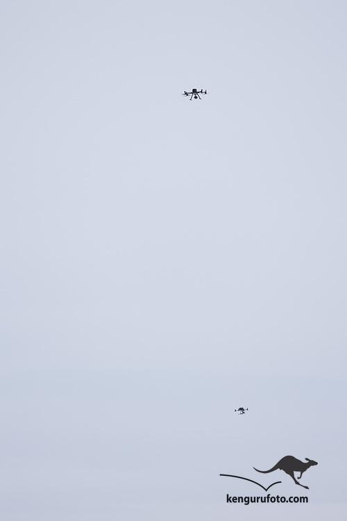 Ask 20210102. <br /> Redningsmannskaper i aktivitet i rasområdet ved Ask i Gjerdrum på dag 4. Droner brukes i søket. Flere boliger ble tatt av jordskredet og ni personer er savnet. Over 1000 personer i området er evakuert.<br /> Foto: Tor Erik Schrøder / NTB