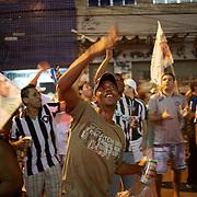 Botafogo fans singing and dancing outside the ground before the Botafogo V  Ceara, Futebol Brasileirao  League match at the Jornalista Mário Filho Stadium, Rio de Janeiro,  Brazil. 25th August 2010. Photo Tim Clayton.