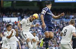 November 3, 2018 - Madrid, Madrid, Spain - Karim Benzema (Real Madrid) seen in action during the La Liga match between Real Madrid and Real Valladolid at the Estadio Santiago Bernabéu..Final score Real Madrid 2-0 Valladolid. (Credit Image: © Manu Reino/SOPA Images via ZUMA Wire)
