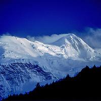 TIBET, Tsangpo Gorge, Massif of Mt.Namcha Barwa, highest peak in eastern Himalaya (24,440').