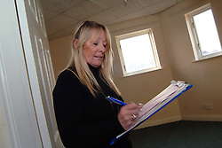 Housing Association Officer surveys a property for the next tenant; York