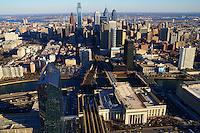 Aerial View, Philadelphia Skyline @ 30th Street Station