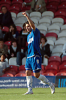 Photo: Tony Oudot.<br /> Brentford v Stockport County. Coca Cola League 2. 29/09/2007.<br /> Anthony Elding of Stockport celebrates his hattrick goal