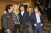 Nicky Haslam, Jerry Hall, Mick Jagger, Suzanne and Bill Wyman. Nicky Haslam celebrated his birthday by throwing a party for Jerry Hall. dorchester Club. 1 October 2000. © Copyright Photograph by Dafydd Jones 66 Stockwell Park Rd. London SW9 0DA Tel 020 7733 0108 www.dafjones.com