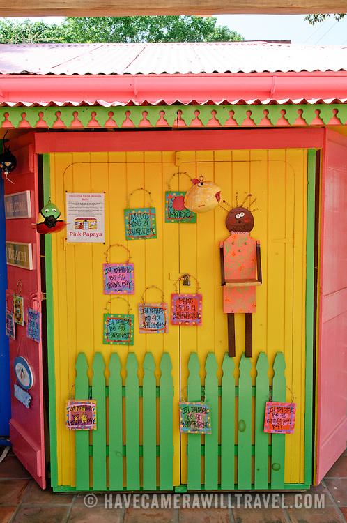 The Pink Papaya, a souvenire store in Cruz Bay, St. John