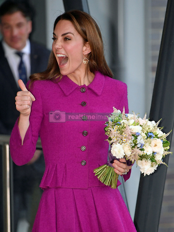 The Duchess of Cambridge leaving the East Anglia's Children's Hospices' new hospice The Nook in Framingham Earl, Norfolk.