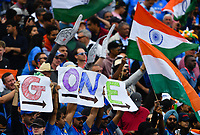 Cricket - 2019 ICC Cricket World Cup - Semi-Final: India vs. New Zealand<br /> <br /> Indian fans celebrate the fall of New Zealand's Henry Nicholls wicket, at Old Trafford, Manchester.<br /> <br /> COLORSPORT/ASHLEY WESTERN